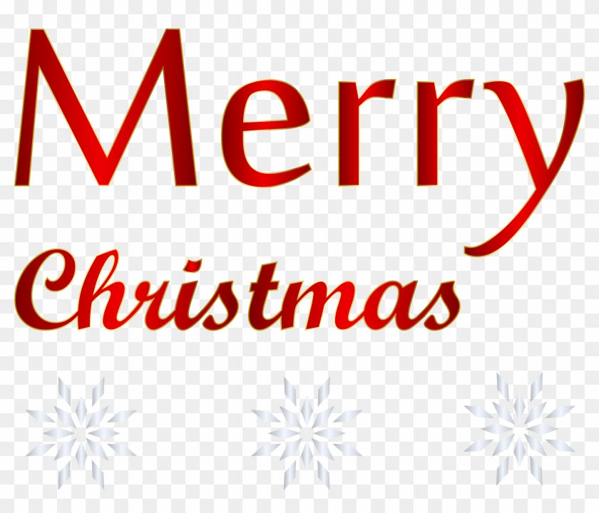 Red Text Merry Christmas Png Transparent Clip Art Image #216617