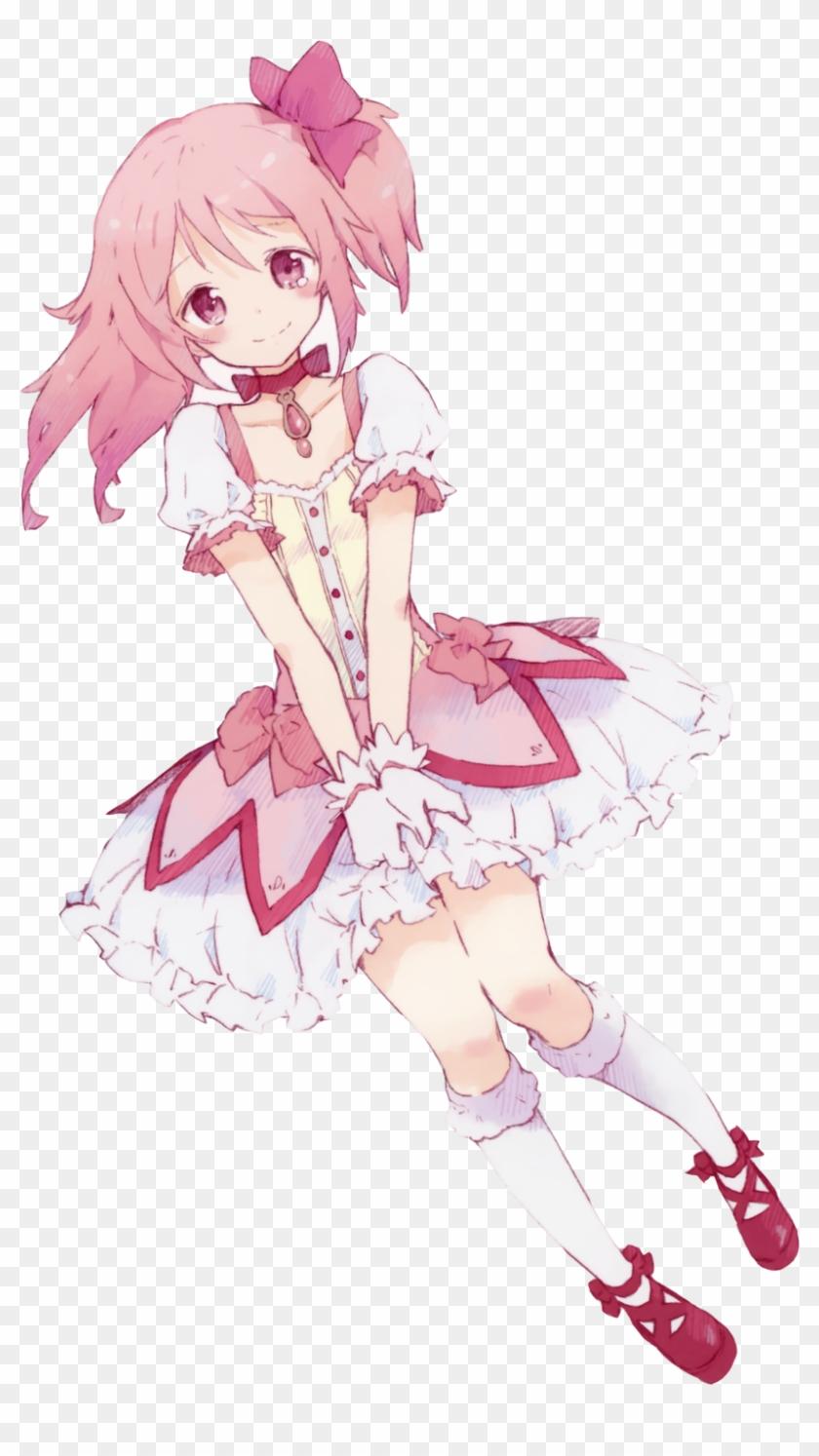 Anime Girl Pink Hair Png - Kaname Madoka Clipart (#9) - PikPng