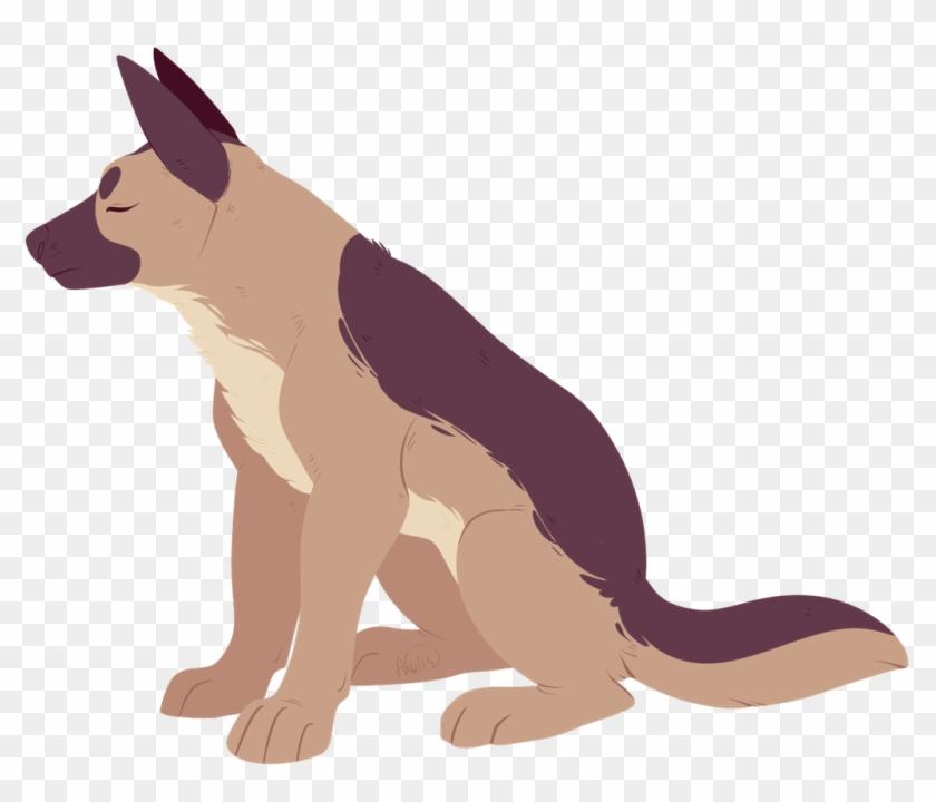 Drawn German Shepherd Chibi - Dog Yawns Clipart #217383