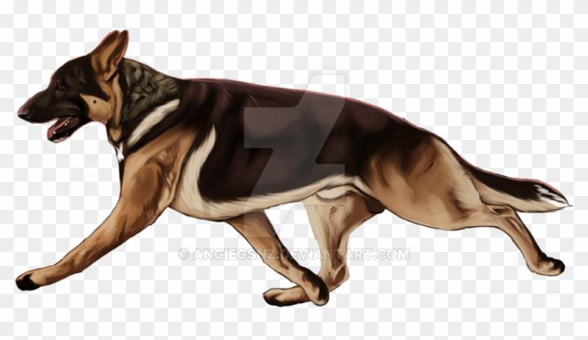 German Shepherd Logo Design - Old German Shepherd Dog Clipart #218016