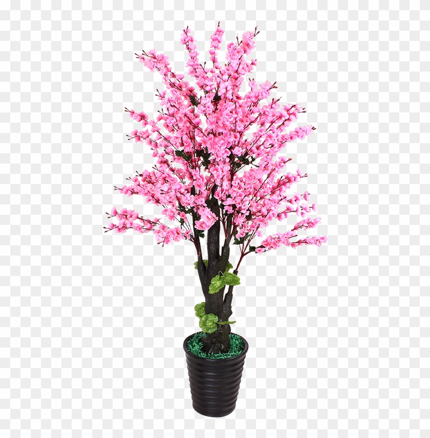 Artificial Flower Type - Peach Blossom Flowers Tree Png Clipart #2100320