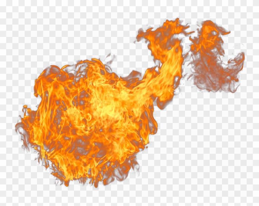 Decorative Buckle Fireball Flame Creative Free Transparent - Flame Clipart #2101323