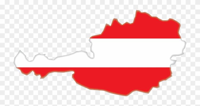 Austria Map Flag Vector And Transparent Png - Austria Vector Map Png Clipart #2106023