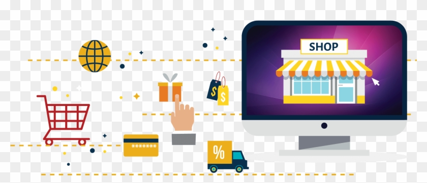 What Is An E-commerce Website - Graphic Design Clipart #2108246