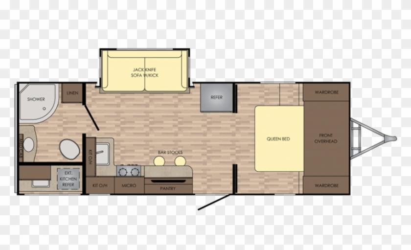 Cr Sunsettrailsl 2018 222rb Fp 2019 Crossroads Sunset Trail 253rb Floor Plan Clipart 2108477 Pikpng