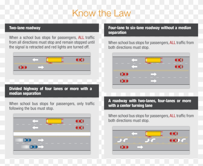 What Is The Law - School Bus Stop Laws Washington State Clipart #2109993