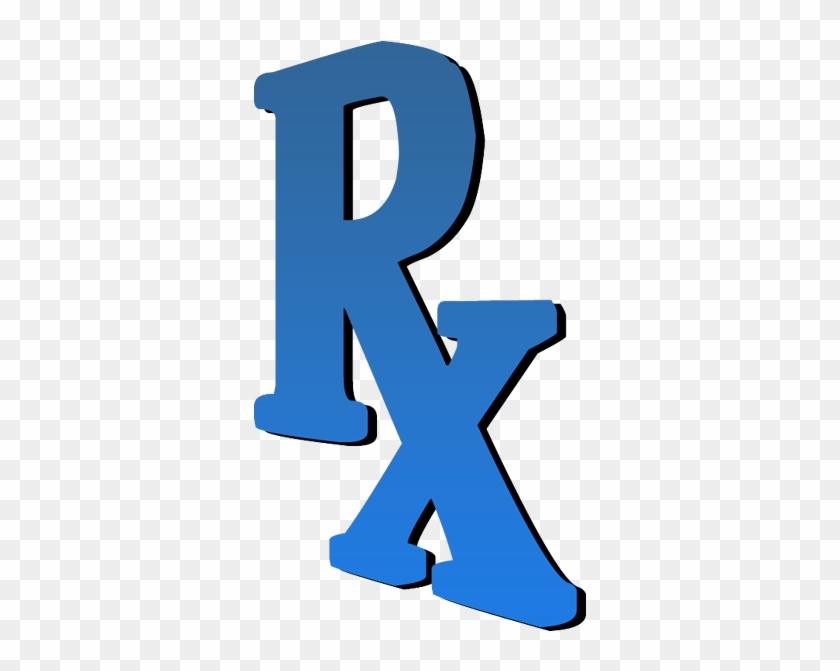 Blue Rx 3d Clipart #2114016