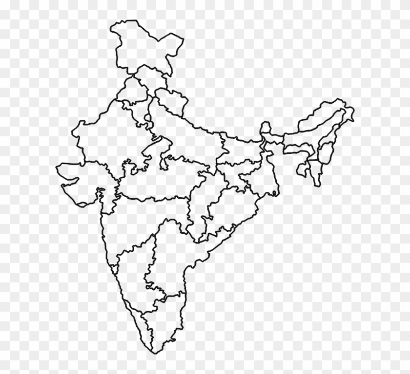 India Map - India Political Map Outline Clipart (#2116804 ...