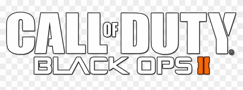 Call Of Duty Black Ops 2 Logo Outline Clipart #2124639