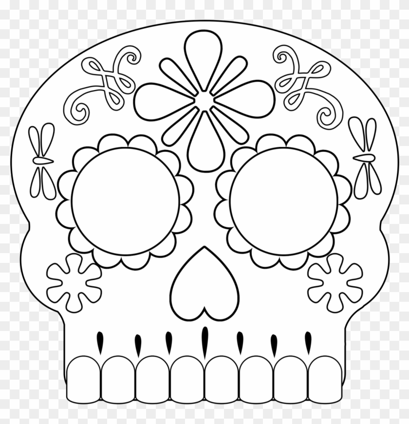 Day of the Dead Masks Sugar Skulls Free Printable | Paper Trail Design | 871x840