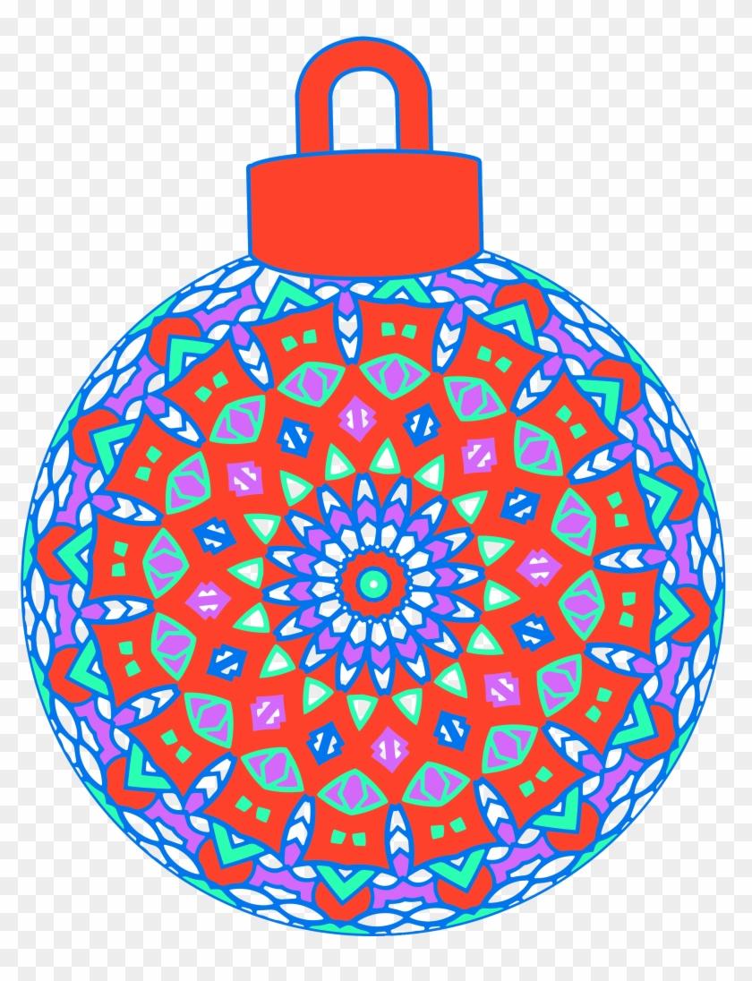 Colored White Line Design - Circle Clipart #2127397
