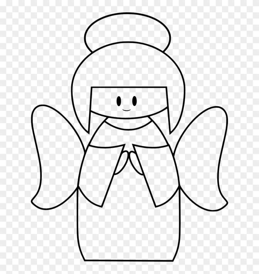 Angel Clipart Free Printable Cute Angel Clipart Black White Png Download 2134110 Pikpng