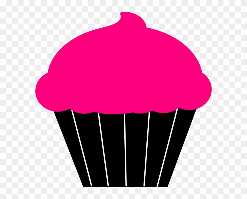 Cupcake Clipart Template - Cupcake Pink Black Clipart - Png Download #2135287