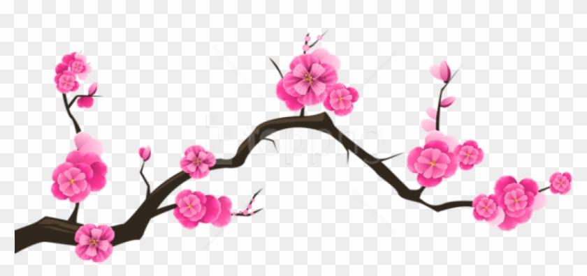 Free Png Download Sakura Branch Transparent Png Images - Transparent Background Cherry Blossom Clip Art #2138222