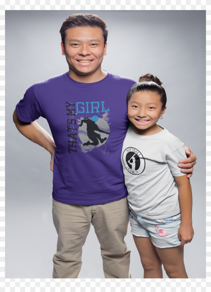 Father And Daughter T Shirt Mockup Free Clipart #2143310