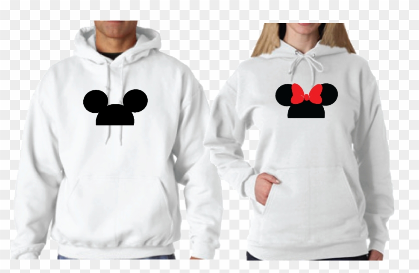 Cute Matching Married Couple Shirts For Mr Mrs Mickey - Disney King And Queen Hoodies Clipart #2147381