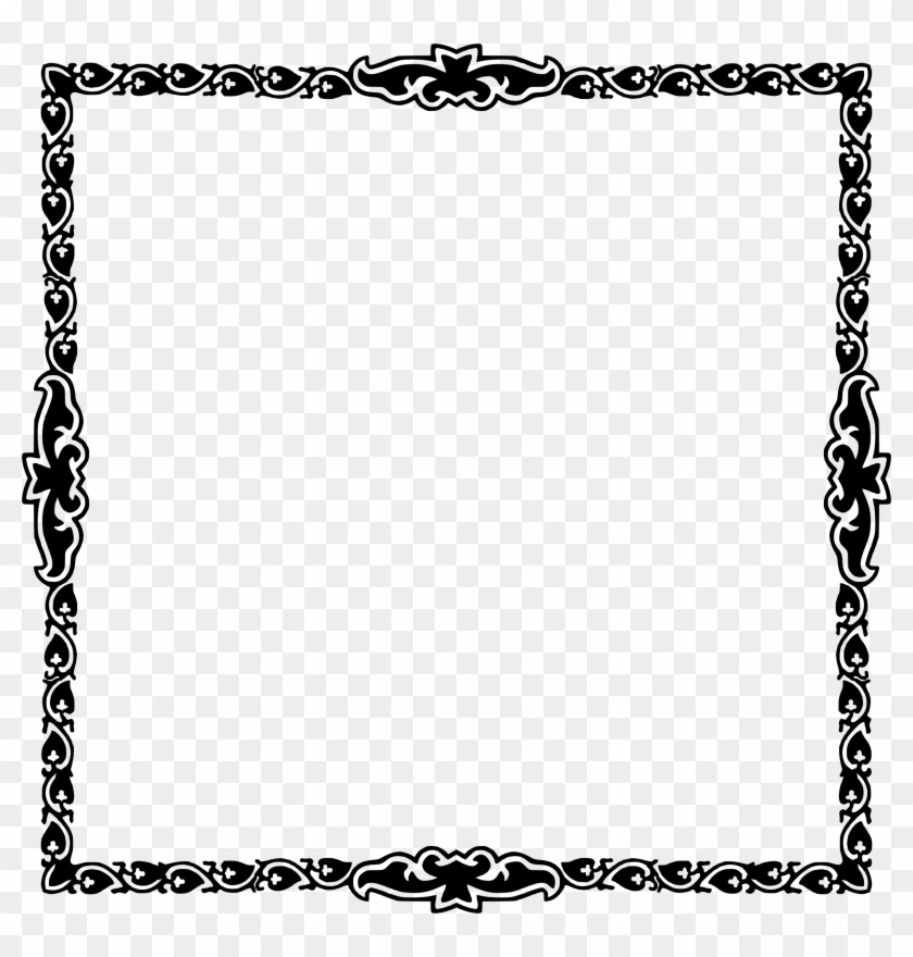 This Free Icons Png Design Of Art Deco Frame 6 - Black Belt Border For Certificate Clipart #2149656