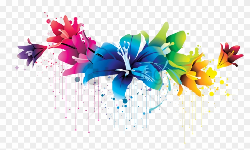 Free Png Colorful Floral Design Png Png Image With - Colorful Floral Design Png Clipart #2152719