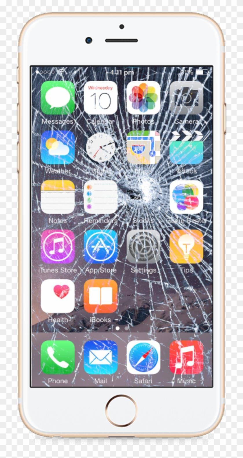 Iphone 8 Plus Png - Broken Iphone Screen Wallpaper Hd Clipart #2153037