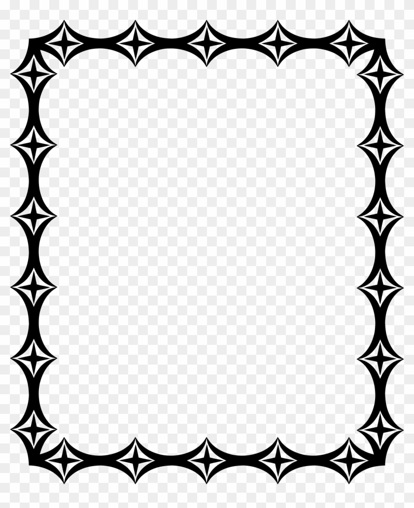 Decorative Border Clipart Wedding - Line Art Borders For Invitation - Png Download #2153073