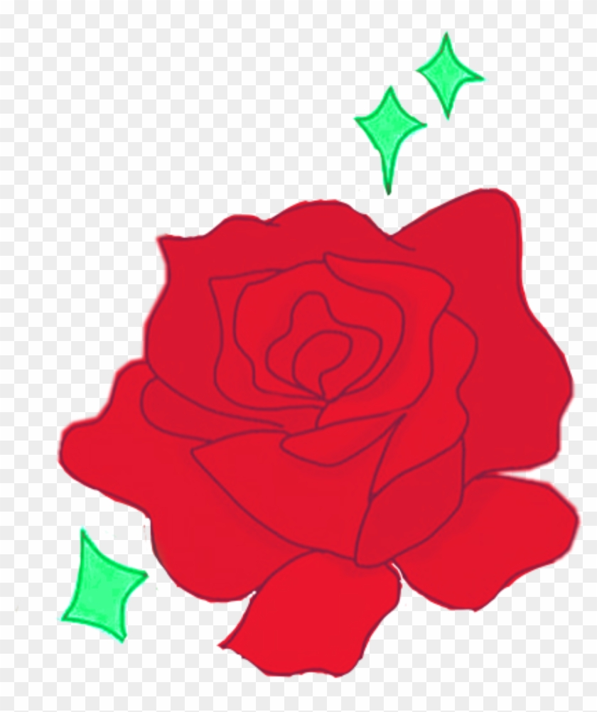 Rose Roses Red Green Aesthetic Tumblr Flower Png Clipart Garden