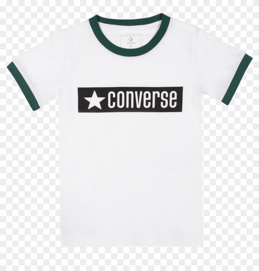 Boys Vintage Logo Ringer Junior T Shirt White - Active Shirt Clipart #2159188