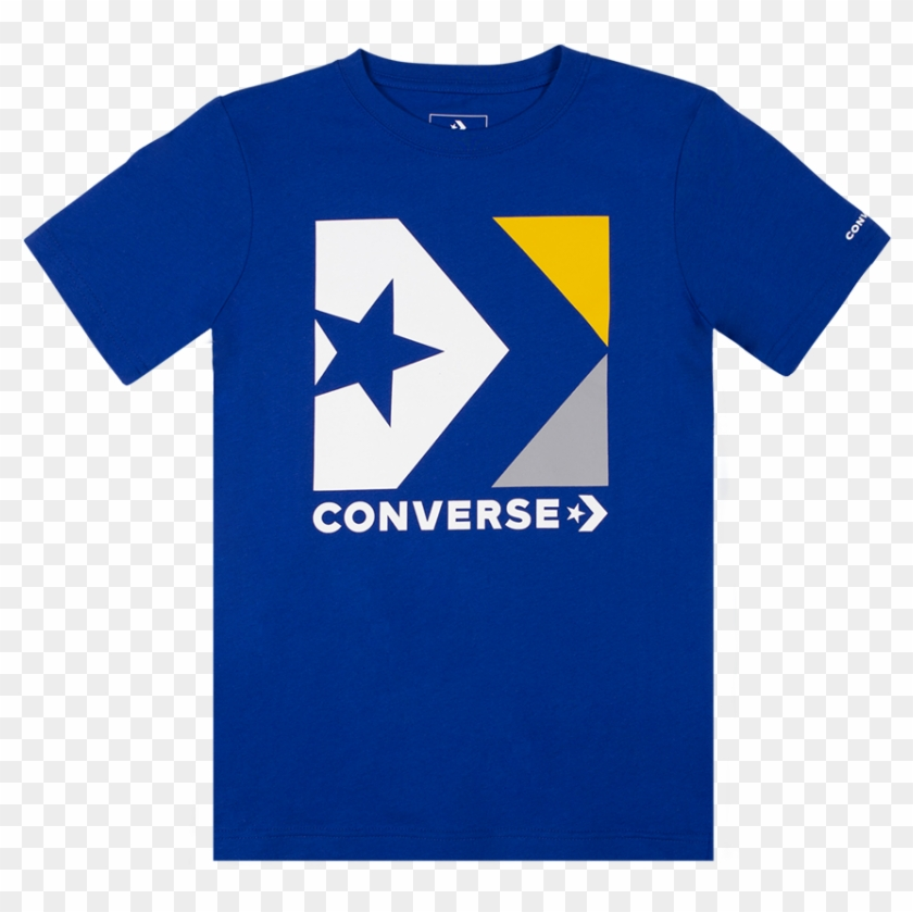 Boys Converse Star Chevron Box T Shirt White/navy - Shirt Clipart #2159299
