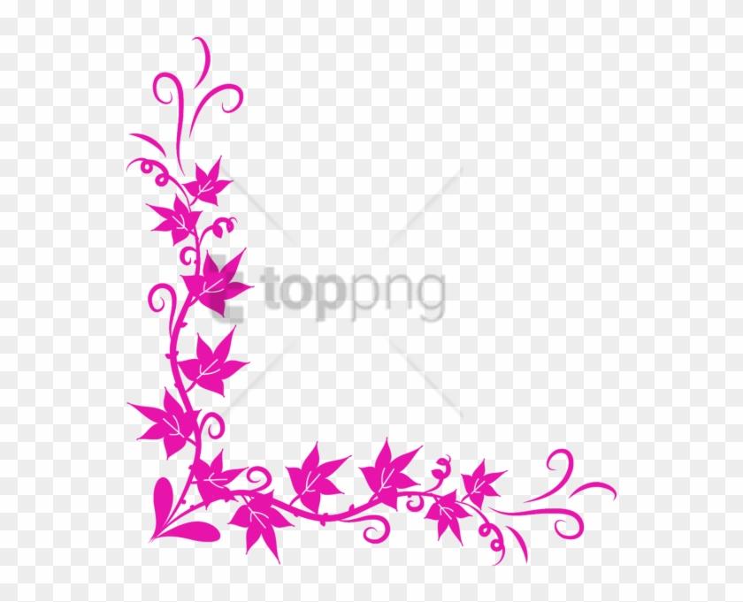 Free Png Download Colorful Floral Corner Borders Png - Border Page Corner Design Png Clipart #2161615