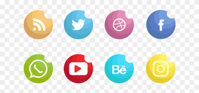 Social Media Icons Set Vector Clipart #2166216