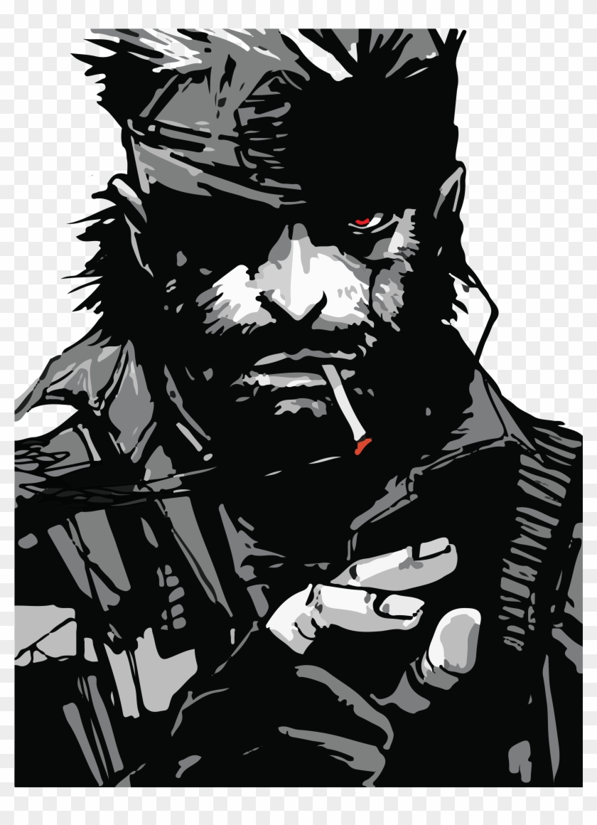 Solid Snake 2 72 01 Metal Gear Solid Snake Art Clipart