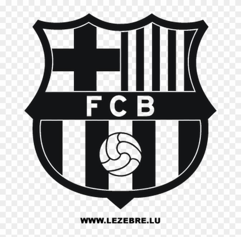 Fcb Black Logo Fc Barcelona Logo Black And White Png Clipart 2171192 Pikpng