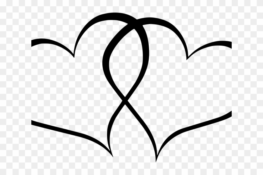 Rustic Heart Vector Transparent - Transparent Black And White Heart Clipart - Png Download #2173092