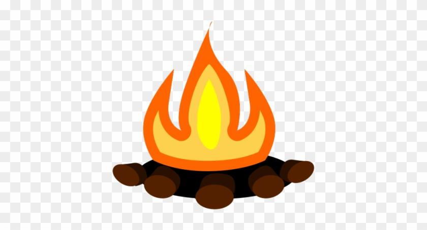Flames Clipart Rocket Engine - Camp Fire Transparent Background - Png Download #2178655
