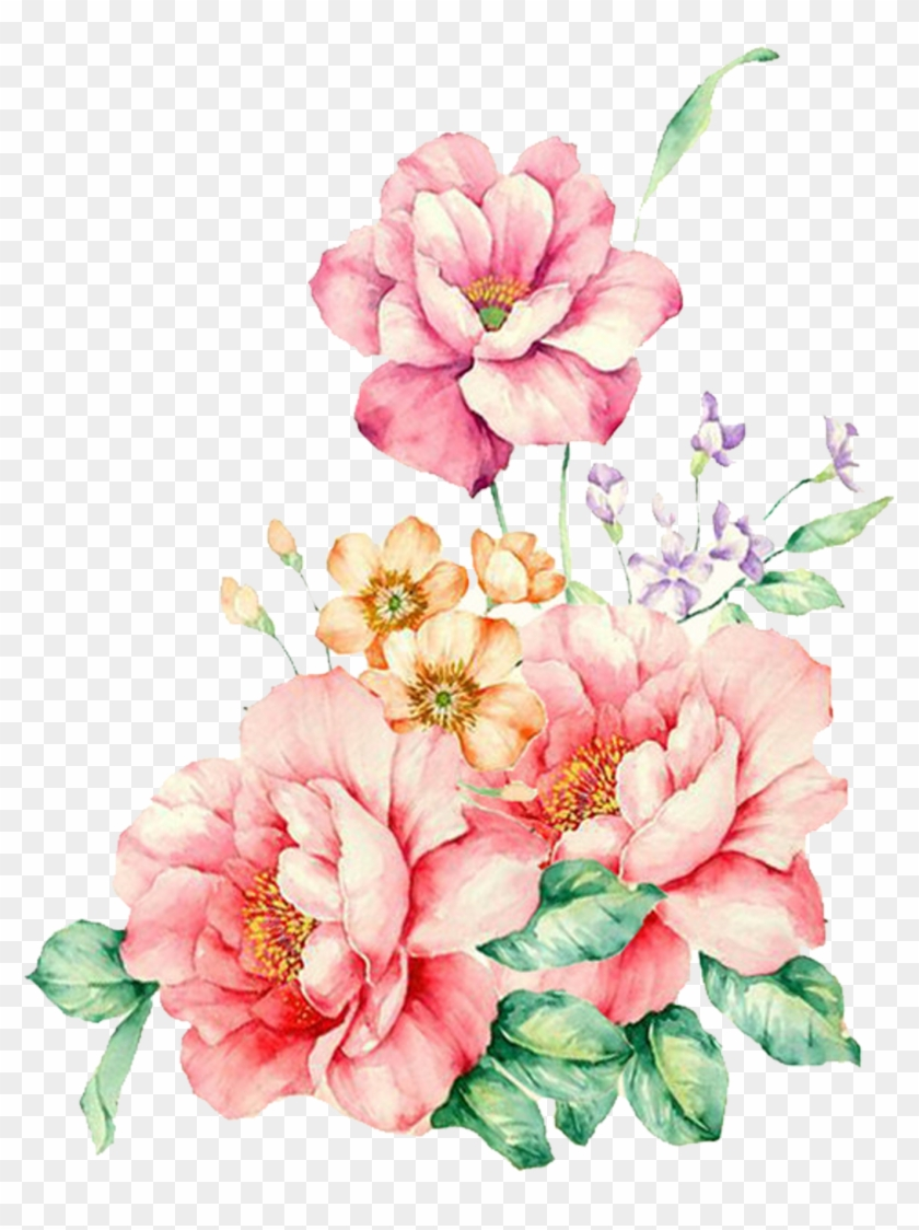 Pink Decorative Flower Watercolor Flowers Painting Flower
