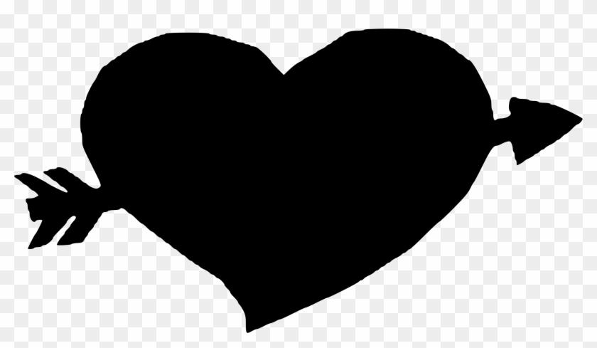 Big Image - Arrow Through Heart Png Clipart #2181774