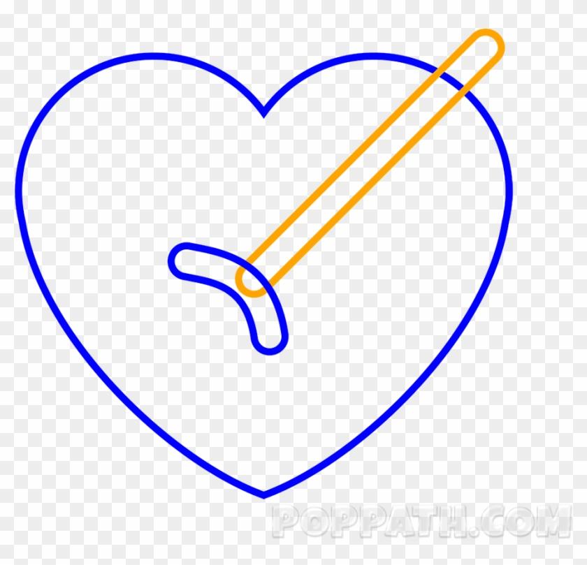 Jpg Transparent Stock How To Draw A Heart Arrow Emoji - Heart Clipart #2181970
