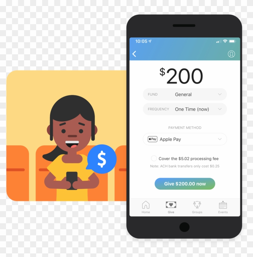Cash And Check - Church Center App Giving Clipart #2185102