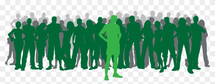 Over 300 Students And Counting - Stand Out From The Crowd Vector Clipart #220925