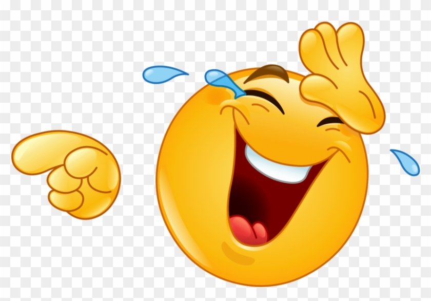 Free Png Download Laughing Pointing Emoji Png Images - Laughing Smiley Face Clipart #222050