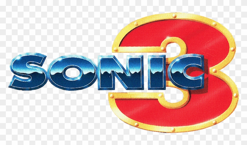 Sonic 3 Eu From The Official Artwork Set For Sonic The Hedgehog 3 Logo Clipart 2207606 Pikpng