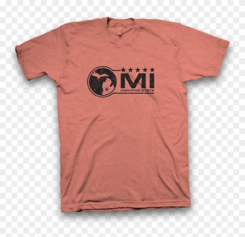 Mi High Five State Original Five Star Logo In Black - T Shirt Clipart #2213898