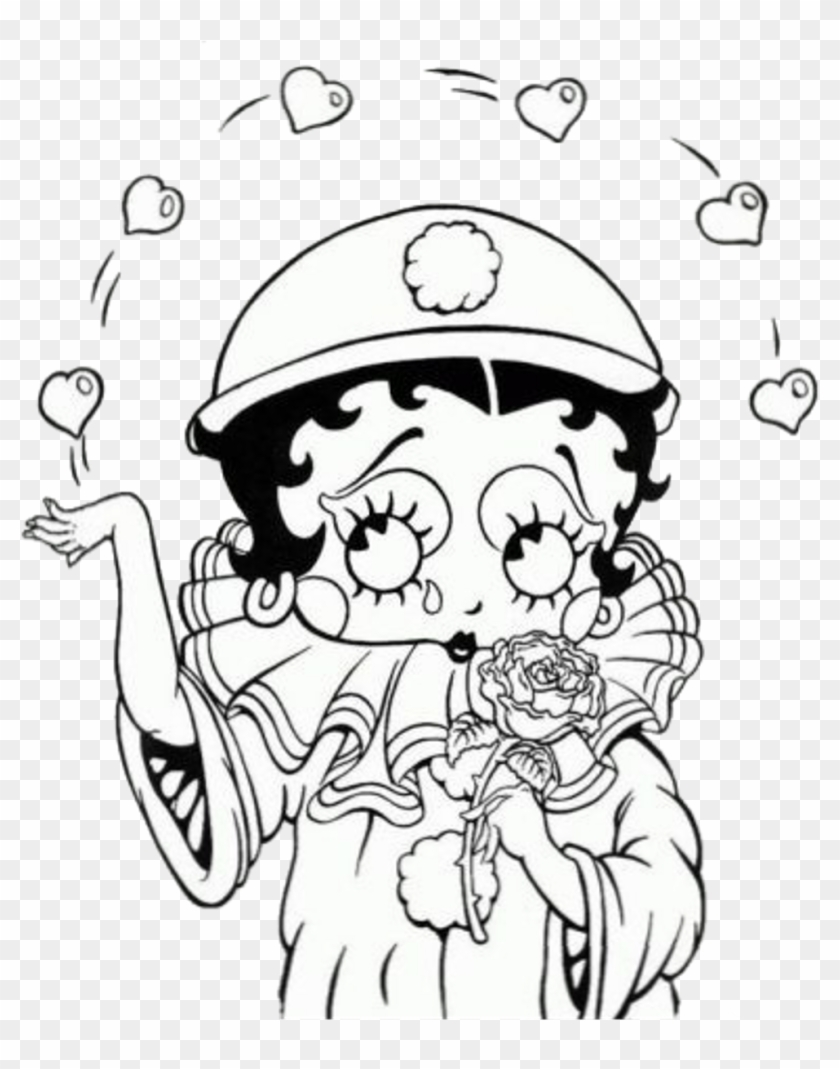 Betty Boop coloring pages for kids, printable free | 1069x840