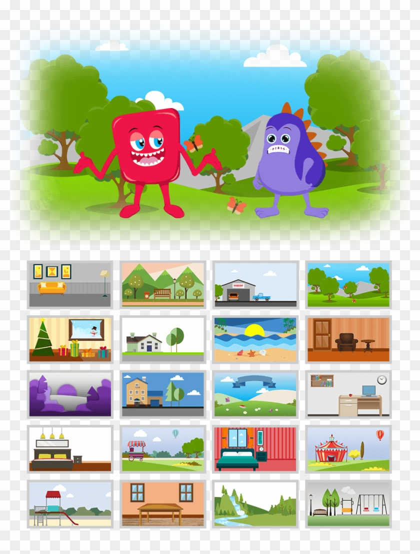 20 Background Image To Combine With Cute Monster Studio - Cartoon Clipart #2218380