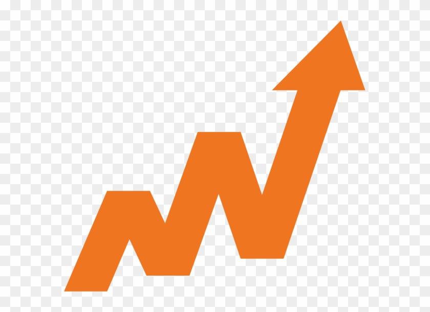 Graphic Icon Of A Line Graph Moving Upward - Zig Zag Upward Arrow Clipart #2218632