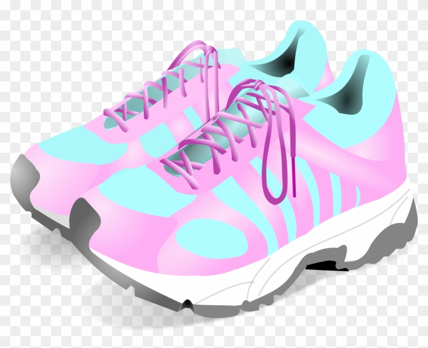 Jpg Royalty Free Library Nike Free Clip Art Running - Girls Sneakers Clipart - Png Download #2221565
