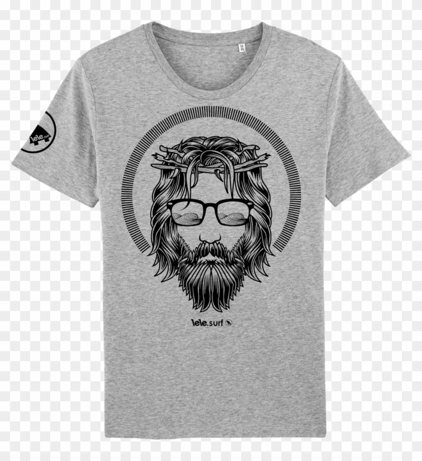 Surf T-shirt Men Grey, The Son - Surf T Shirts Clipart #2222631