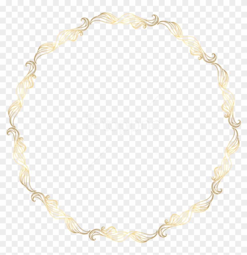 Free Png Download Floral Gold Round Border Transparent - Vintage Round Gold Border Transparent Background Clipart #2225556