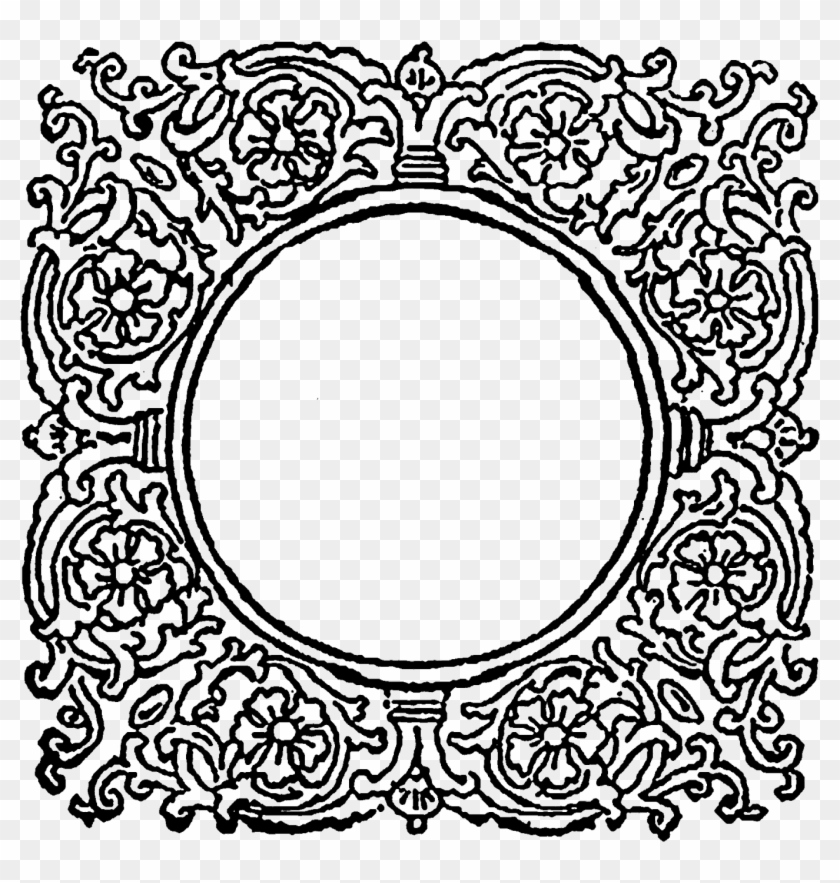 The First Digital Frame Also Has A Floral Pattern - Circle Clipart #2227453