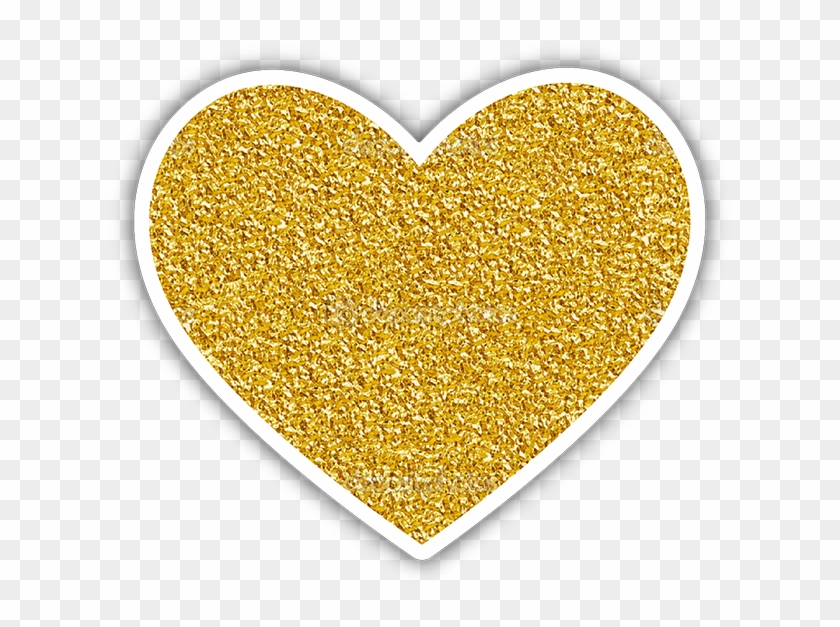 720 X 720 3 0 - Gold Heart Stickers Png Clipart #2236802