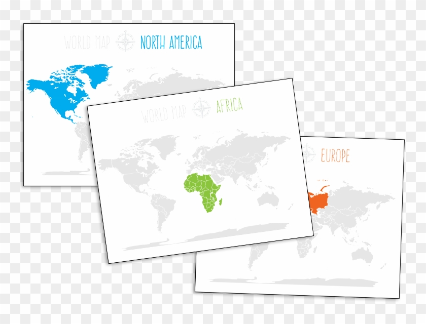 World Map Outline - Many Continents Are There In The World Clipart #2240213
